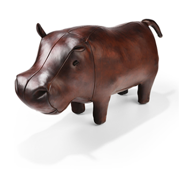 Leather Hippopotamus - Medium