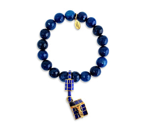 Treasure Box Bracelet/Blue Agate