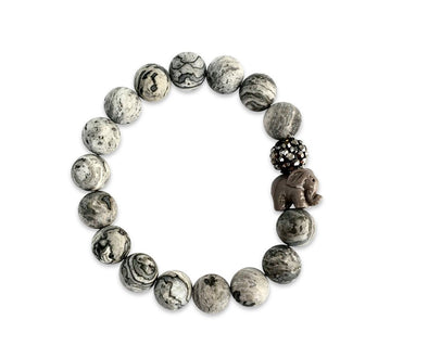 Lucky Elephant Grey Jasper