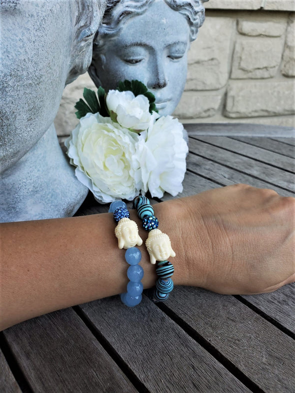 Happy Buddha Blue Malachite