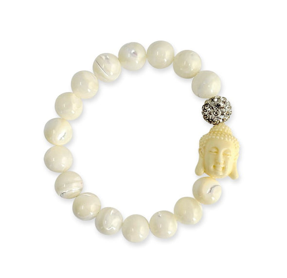 Happy Buddha Bracelet Mother Pearl