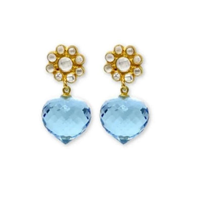 Daisy Blue Quartz Earrings