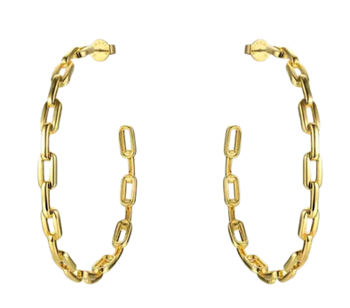 Paperclip Gold Hoops