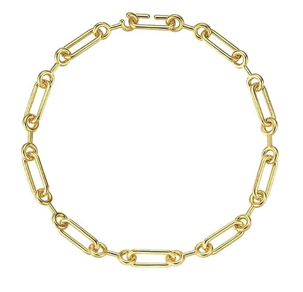 Quintessential Gold Link Necklace