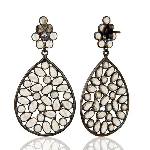 Letta Oxidized Silver Earrings
