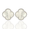 Clover Mother Pearl | Earrings at ValentineRouge.com | Timeless Jewellery