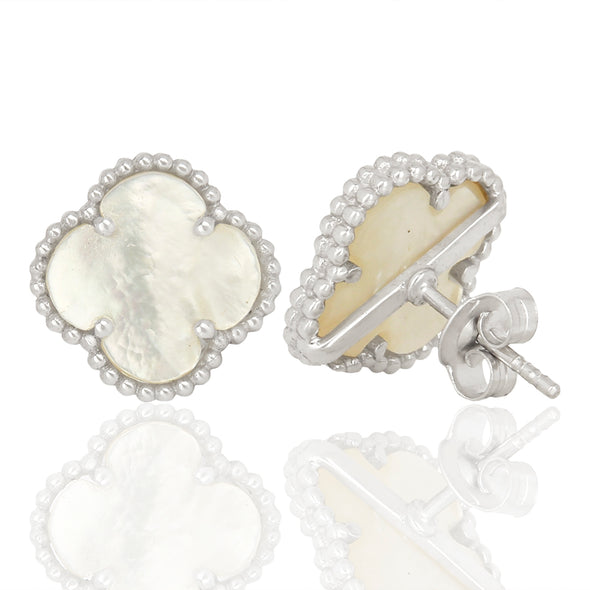 Clover Mother Pearl Studs