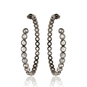 Allure Collection | Anastasia Oxidized Silver Hoops | Toronto, Canada