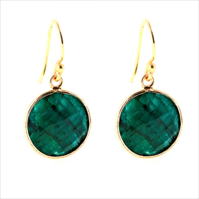 Lollipop Emerald Earrings
