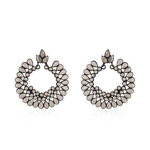 Chloe Black Silver Earrings