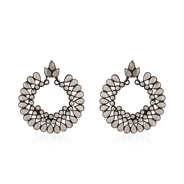 Chloe Oxidized Earrings