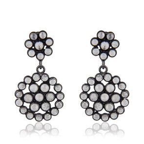 Blossom Black Silver Earrings