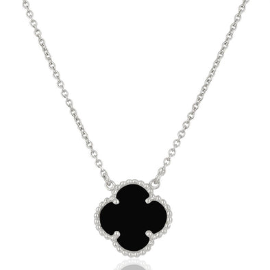 Clover Black Onyx Necklace