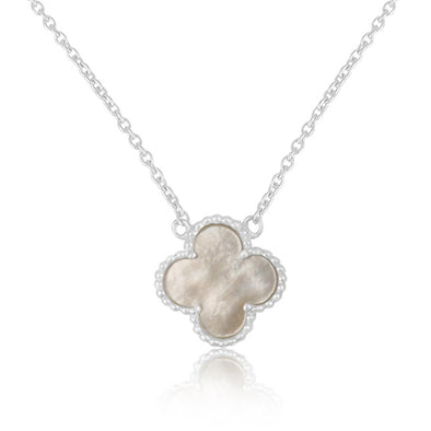 Clover Mother Pearl Necklace