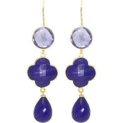 Clover Blue Lapis Earrings