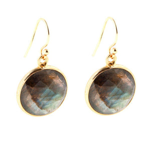 Lollipop Labradorite Earrings