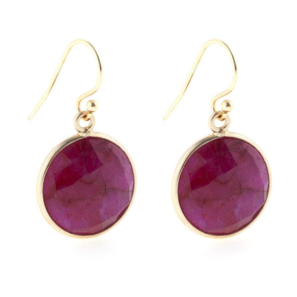 Lollipop Ruby Earrings