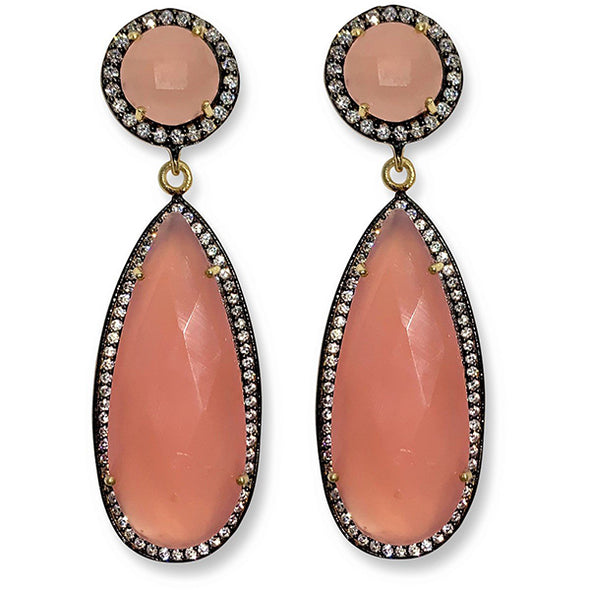 Pink Chalcedony Earrings