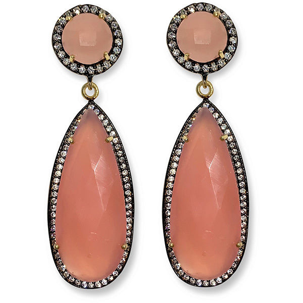 09e93518a Pink Chalcedony Earrings by Valentine Rouge, Toronto, Canada –  ValentineRouge.com