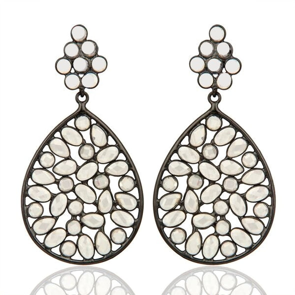 Letta Oxidized Silver | Earrings at ValentineRouge.com | Timeless Jewellery