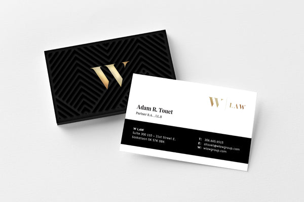 W Law Melfort Office Business Cards