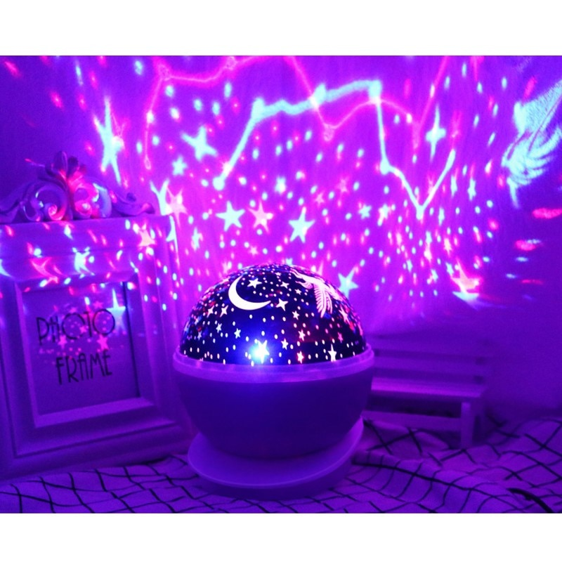 Rotating Night Light Projector Lamp
