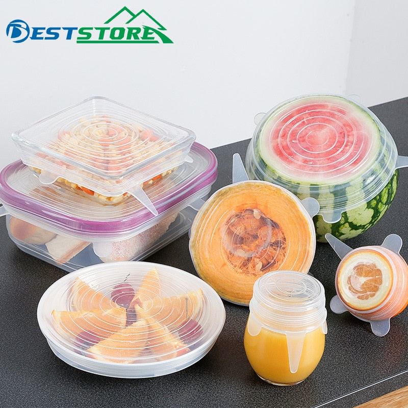 6Pcs Food Grade Stretch Lids