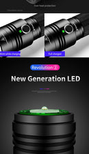 Ultra Powerful LED Flashlight T6 L8 Super Bright Direct Charge Lantern 18650 Rechargeable Torch Waterproof Lamp