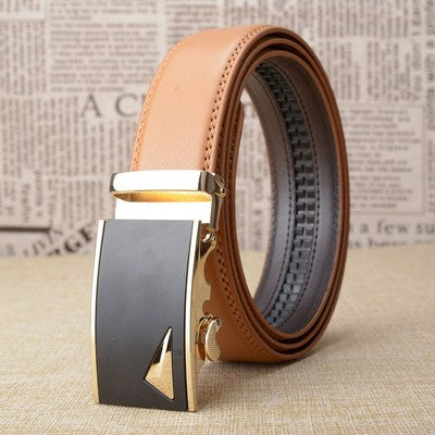 CETIRI 14 Yellow Real Leather Click Belt