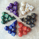 7pcs/set 17 Colors Multifaceted Dice