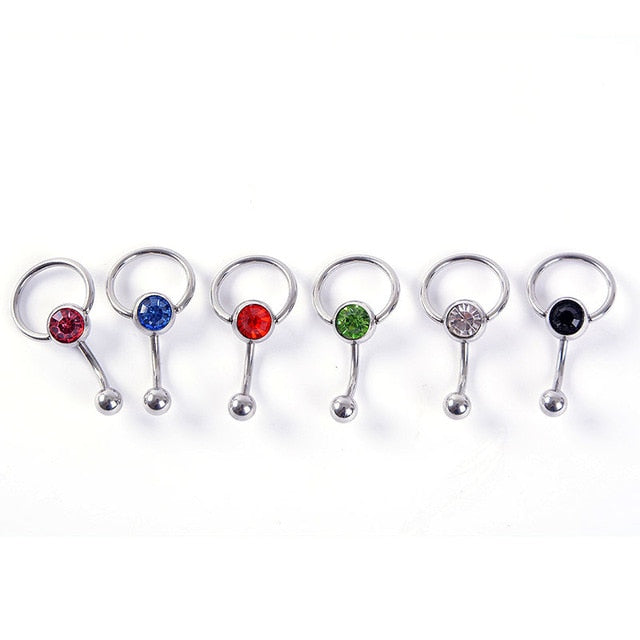 1PC New Surgical Steel Navel Piercing