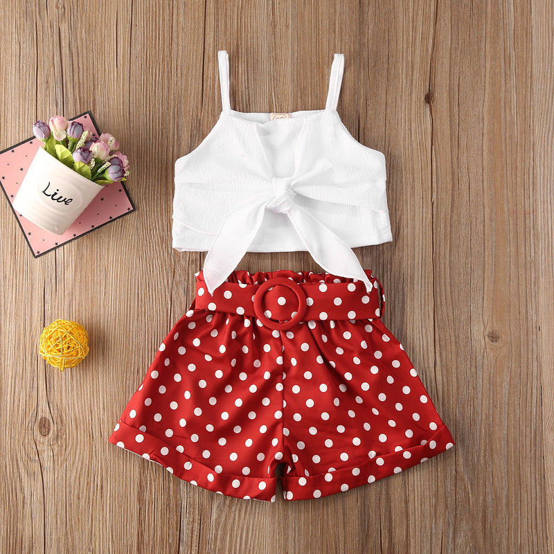 FOCUSNORM Toddler 2pcs Summer Clothing Outfit Set For Girl 2-6Years