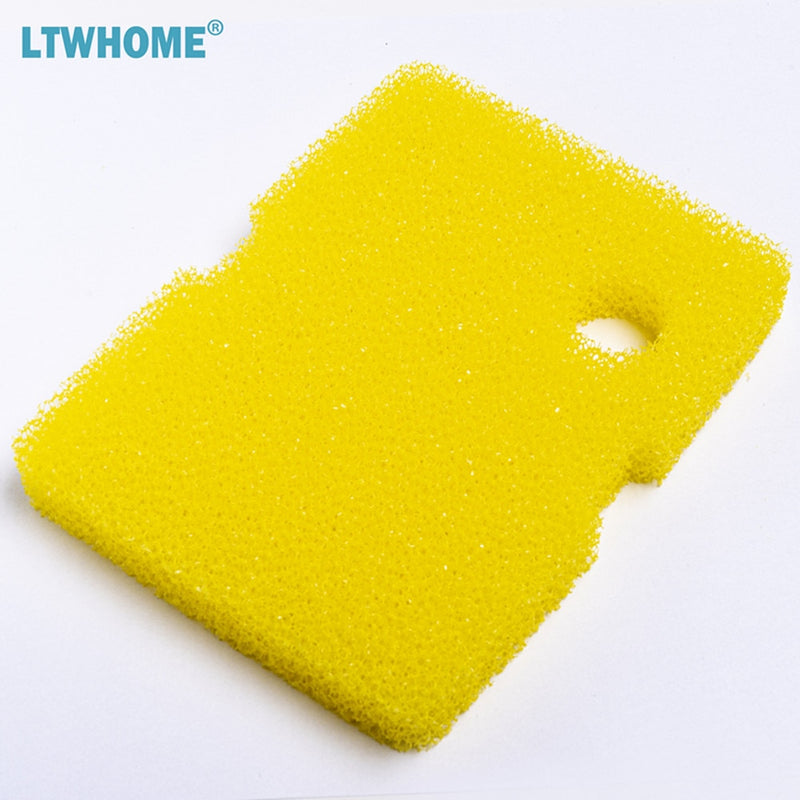 LTWHOME Compatible Bio Sponge and Floss Pad Replacement for Cascade 1200 / 1500 GPH Aquarium Canister Filter