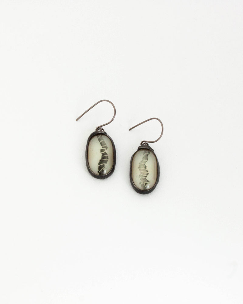 Boucles d'oreilles / Collection grisaille