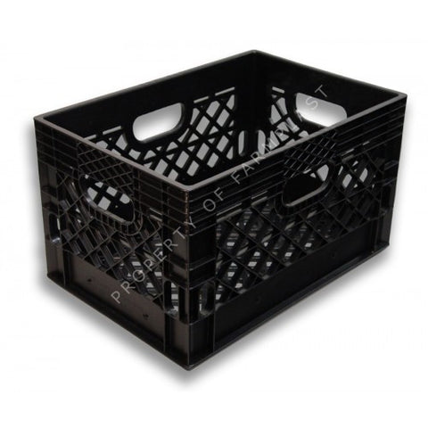 Black Rectangular Milk Crate