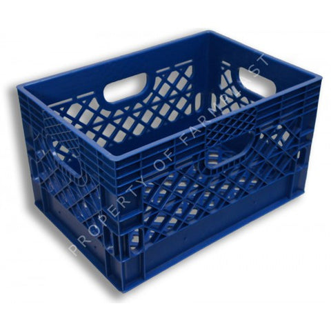 Blue Rectangular Milk Crate