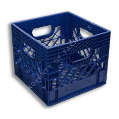 Blue Square Milk Crate