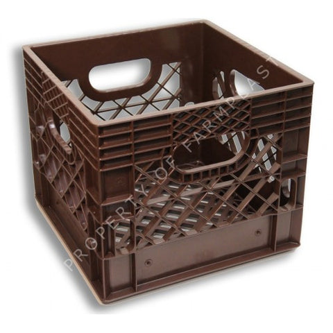 Brown Square Milk Crate