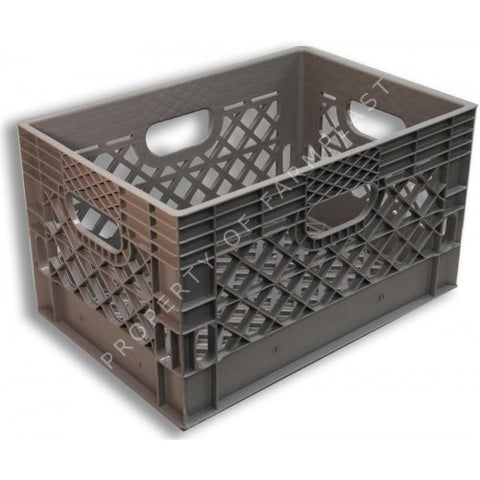 Gray Rectangular Milk Crate