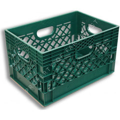 Green Rectangular Milk Crate