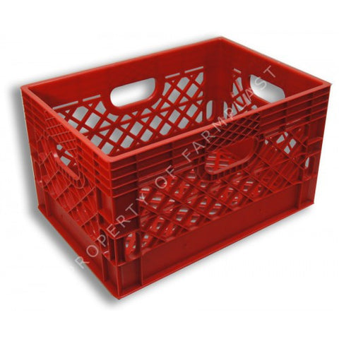 Red Rectangular Milk Crate