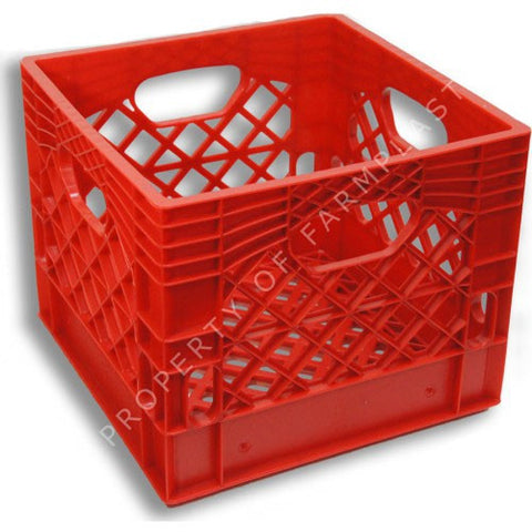 Red Square Milk Crate