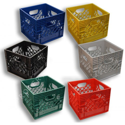 Square Milk Crates 6-Pack