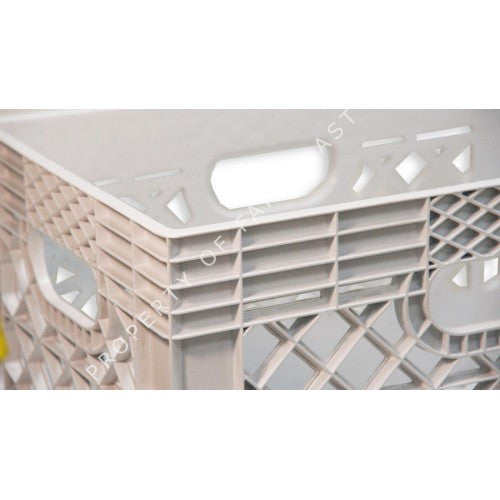 White Rectangular Milk Crate | Farmplast