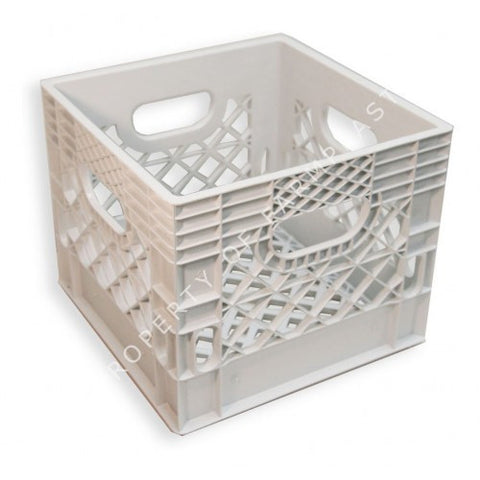 White Square Milk Crate