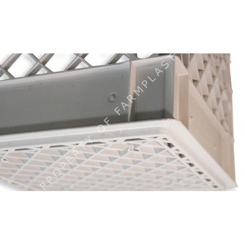 White Square Milk Crate | Farmplast
