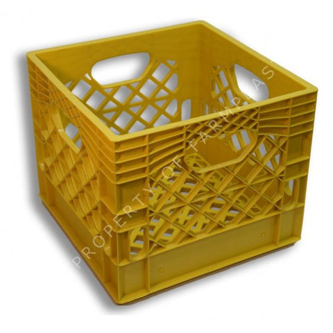 Yellow Square Milk Crate