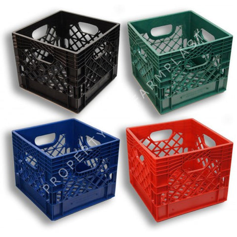 Square Milk Crates 4-Pack