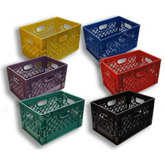 Rectangular Milk Crates    6-Pack.