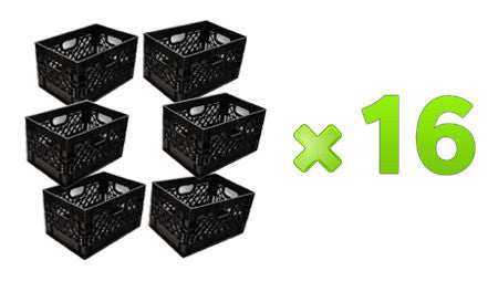 96 Rectangular Milk Crates Pallet (Black Only)